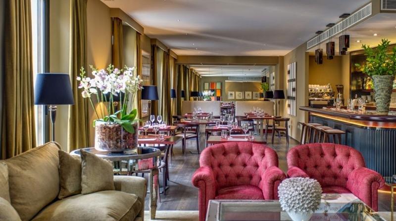 The interior of Can Alomar Hotel in Palma de Mallorca