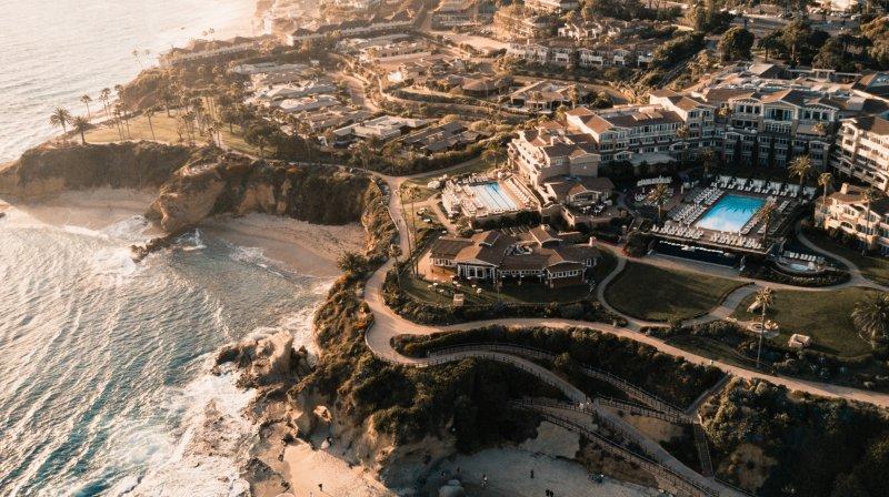Aerial view of Laguna Beach in California