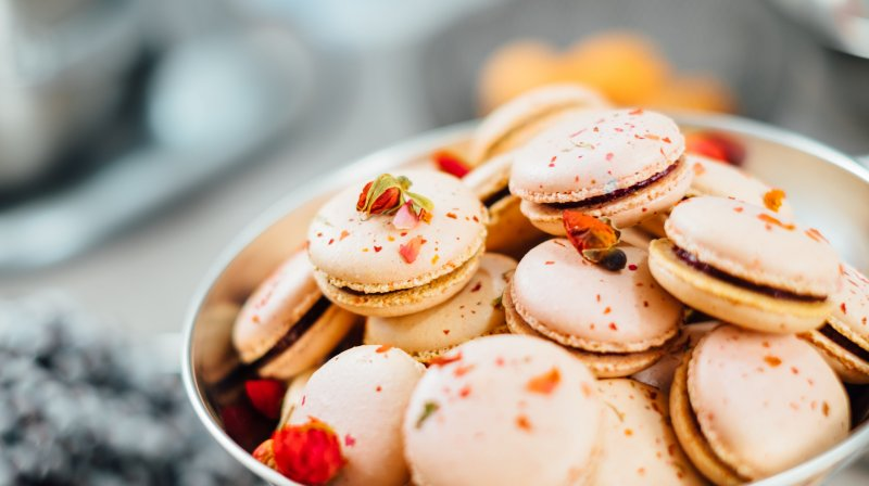 Bowl of French Macarons