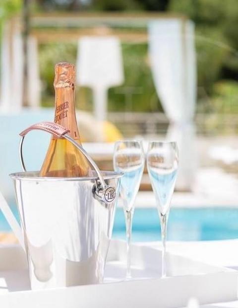 Champagne in Luxury hotel Mallorca