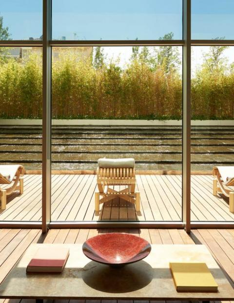 spa with terrace