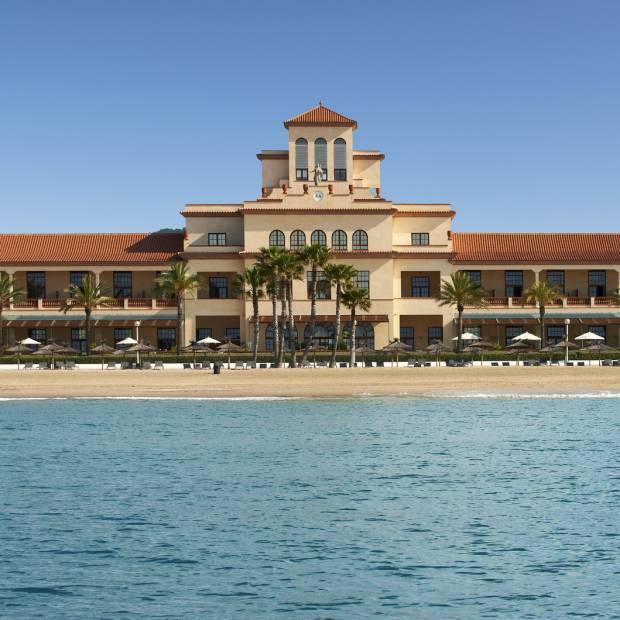 View of Le Méridien Ra Beach Hotel & Spa from the sea